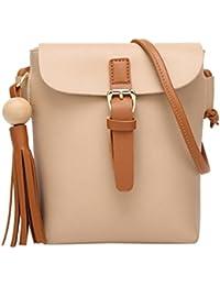 Sac à bandoulière, LHWY Femmes à la mode sac à main bandoulière épaule pompons en cuir sac