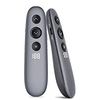 Powerpoint Presentation Clicker, Wireless Remote Presenter, 2.4GHz USB Universal Compatibility, Advanced Digital Highlighting Magnify, 20m Range and Quick Charging, Plug and Play