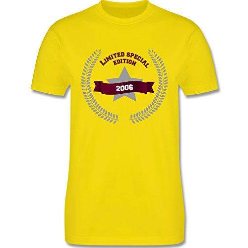 Geburtstag - 2006 Limited Special Edition - Herren Premium T-Shirt Lemon Gelb