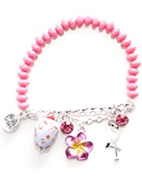 Marc Labat - 12E15 - Miami - Bracelet Femme - Métal argenté - Email - Perle - 22 cm