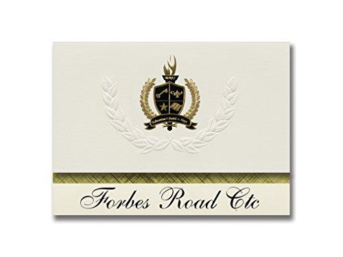 Signature Announcements Forbes Road Ctc (Monroeville, PA) Abschlussankündigungen, Präsidential-Stil, Grundpaket mit 25 goldfarbenen und schwarzen metallischen Folienversiegelungen - Monroeville Pa