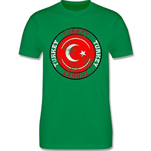 EM 2016 - Frankreich - Turkey Kreis & Fußball Vintage - Herren Premium T-Shirt Grün