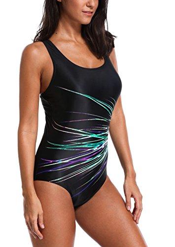CharmLeaks Damen Einteiler Figuroptimizer Sport Badeanzug AirLane 3300 Violett / Blau