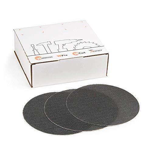 Schleifscheiben 225 Klett 120 | 25 Stück | Siliziumkarbid Schleifgitter K120 | Ø 225 mm | Für Deckenschleifer, Trockenbauschleifer & Tellerschleifer