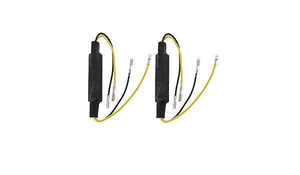 Andifany 2 Pi/èCes Moto R/éSistances de Charge LED Clignotants LED Clignotants Indicateur de R/éSistance Adaptateur LED R/éSistance 12V Universal LED R/éSistance Turn Signal