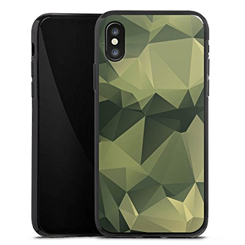Apple iPhone 7 Plus Hülle Premium Case Cover Camouflage Muster Tarnfarben Silikon Case schwarz