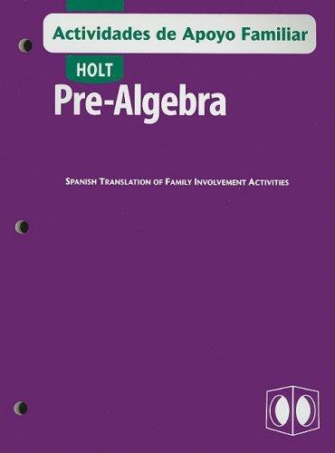 SPA-HOLT PRE-ALGEBRA ACTIVIDAD