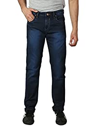 Mens Denim Pants Navy Blue Slim Fit Light Weight Stone WashPremium Fabric For Special Ocassions