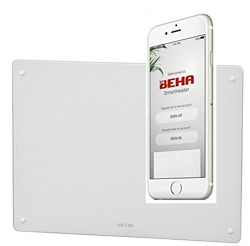 Smart verwarming Beha Glas Wifi 600 watt 42 x 56 x 9 cm