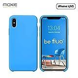 Moxie Coque iPhone XS / iPhone X [BeFluo] Coque Silicone Fine et Légère pour iPhone XS 5.8' et iPhone X, Intérieur Microfibre, Coque Anti-chocs et Anti-rayures pour iPhone XS/X
