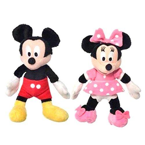 Disney 33148 - Coppia di 2 Peluche Minnie e Topolino 15 cm circa - Mickey Mouse