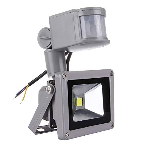KANEED LED-Flutlicht-Outdoor-Sicherheitslicht, Bewegungs-Sensor-Flutlicht-Lampe des Bewegungs-10W 900LM LED, IP65 wasserdicht, Wechselstrom 90-240V (weißes Licht) (Farbe : Warm White) - Bewegungs-sensor Flut-licht Führte