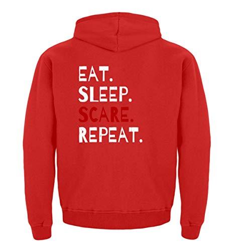 Eat Sleep Scare Repeat - Diabolischer Spaß am Erschrecken und Fürchten zu Halloween - Kinder Hoodie