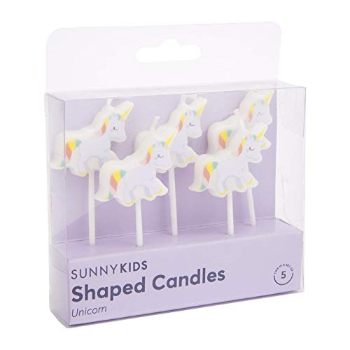 Sunnylife - Velas de cumpleaños para Tartas, diseño de Unicornio