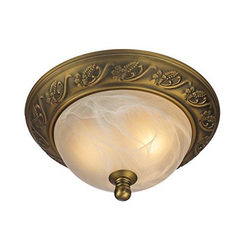 QIRUI Stile classico doppio incasso Lampade a soffitto con vetro smerigliato, soggiorno / sala da (4 Letto A Baldacchino)
