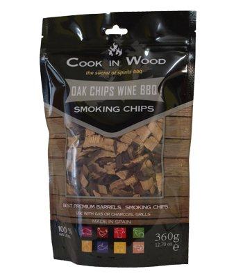 Cook en bois Chêne Chips barbecue Vin 360 g