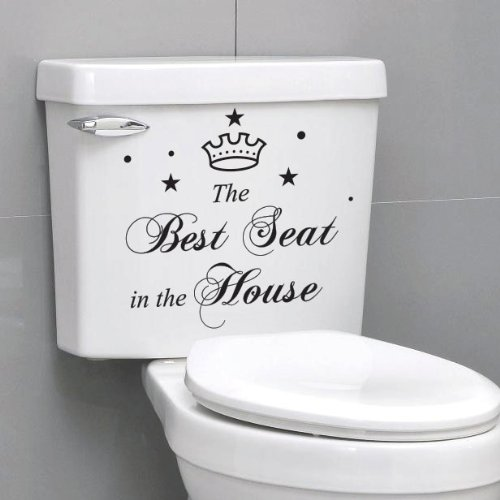 The Best Seat In The House Quote Toilet Bathroom