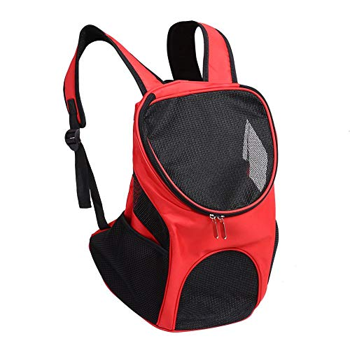 Pet Tasche, tragbar outdoor belüftet atmungsaktiv Mesh Pet Hund Katze Träger Doppelter Schultertaschen Rucksack Reisetasche für Welpen kleine Hunde -