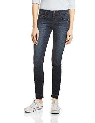 Street One Damen Slim Jeans 371122 York, Blau (Dark Blue Authentic Wash 11224), 40 (Herstellergröße: 31)