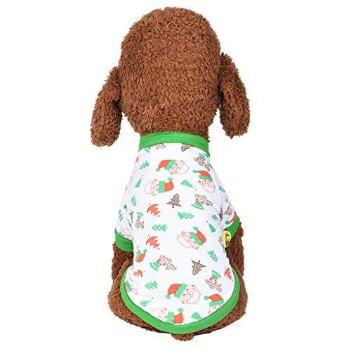 Zebra Kostüm Hunde - Weihnachten Hundebekleidung Hawkimin Polyester T Shirt Puppy Kostüm Hündchen Hund Kleidung Weiches Pullover Hundemantel Haustier Gemütlichkeit Atmungsaktives Sweatshirts Coat Bekleidung