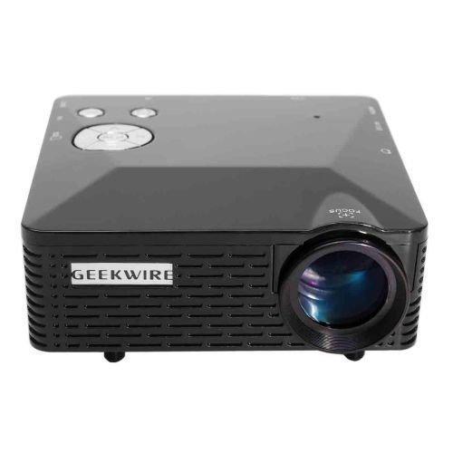 LP-6B Tragbare FHD 1080P LED Projector w / HDMI, VAG, USB 2.0, AV, SD Schwarz