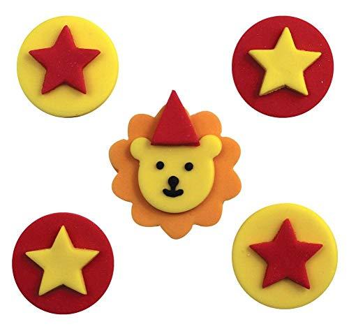 NANA'S PARTY Circus TIME! Geburtstagsparty-Reihe – Clowns Geschirr, Luftballons und Dekorationen Sugarcraft Toppers (Sf466)