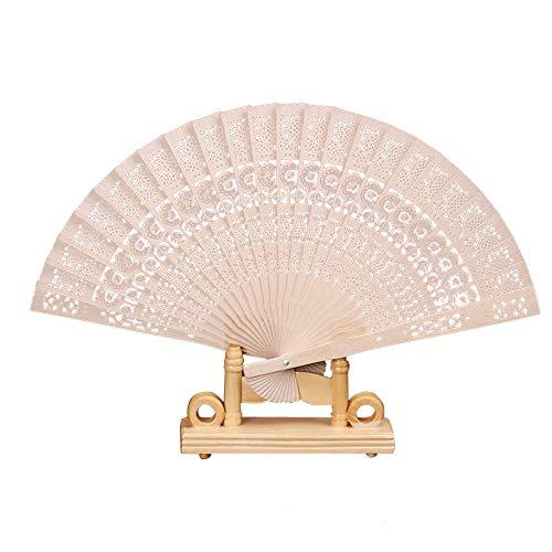 YAM DER Chinesischen Traditionellen Holz Falten Hand Fans Made Exquisite Klapp Faltfächer Dekorative Handfaecher Vintage Bambus Handheld Fan -