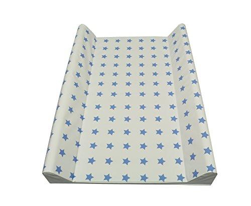 Cambiador de pañales con dos cuñas 50x70 cm o soft 75 x 85cm, estrellas, de color taupe