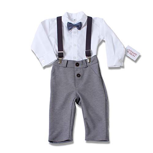 HOBEA-Germany Taufanzug Jungen, Taufkleidung Junge, Anzug Baby Junge für die Taufe für Babys und Kinder Design Jakob, Größe 74
