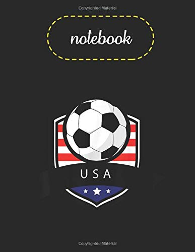Notebook: Usa Soccer Ball   American Flag Football Blank Unline Marble Size Notebook for Sketching and Drawing for Men and Women or School Coworkers Size 8.5x11x110 Pages