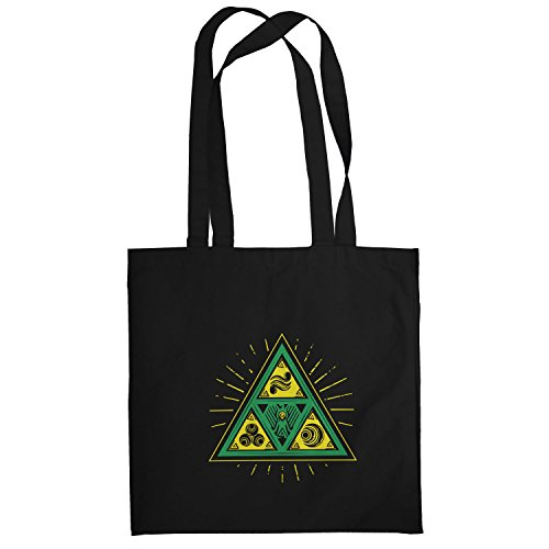 Texlab Triforce Triangle - Stoffbeutel, schwarz (Epona Kostüm)