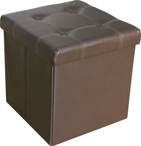 large-ottoman-faux-leather-stool-folding-seat-chest-foldable-storage-box-foot-single-brown