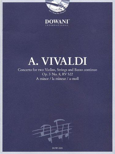 Antonio Vivaldi 1678 - 1741: Concerto for Two Violins, Strings and Basso Continuo Op. 3 No. 8, Rv 522: a Minor /La Mineur / A-moll - Gruppo String