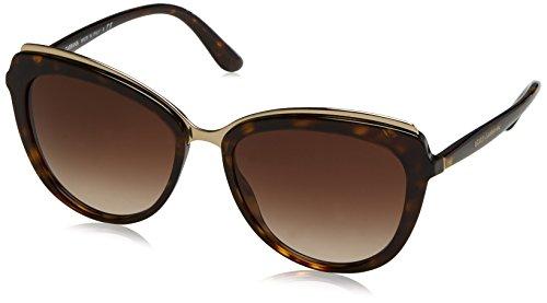 Dolce & Gabbana Damen 0DG4304 502/13 57 Sonnenbrille, Braun (Havana/Browngradient),
