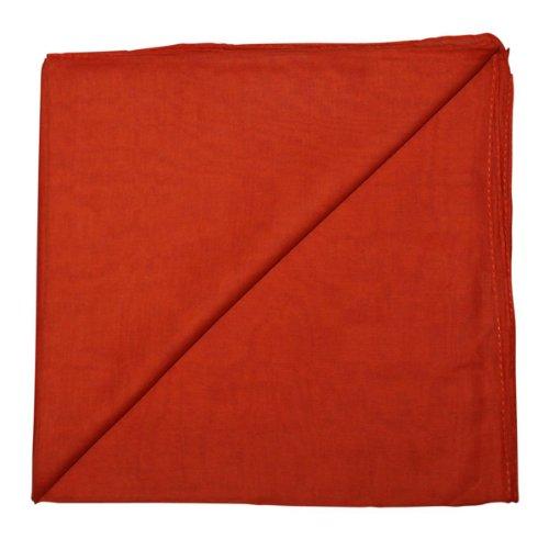 ltuch°Tuch°Schal°100x100 cm°100% Baumwolle, Farbe orange (Orange Schal Für Männer)