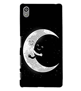 Sony Xperia Z5 Premium (5.5 Inches) :: Sony Xperia Z5 Premium Dual moon Printed Cell Phone Cases, night Mobile Phone Cases ( Cell Phone Accessories ), stars Designer Art Pouch Pouches Covers, happy Customized Cases & Covers, cute Smart Phone Covers , Phone Back Case Covers By Cover Dunia