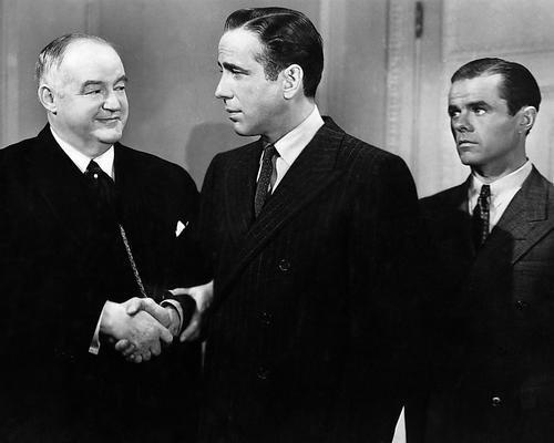 Moviestore Humphrey Bogart als Sam Spade unt Sydney Greenstreet als Kasper Gutman in The Maltese Falcon 25x20cm Schwarzweiß-Foto (Sam Spade Filme)