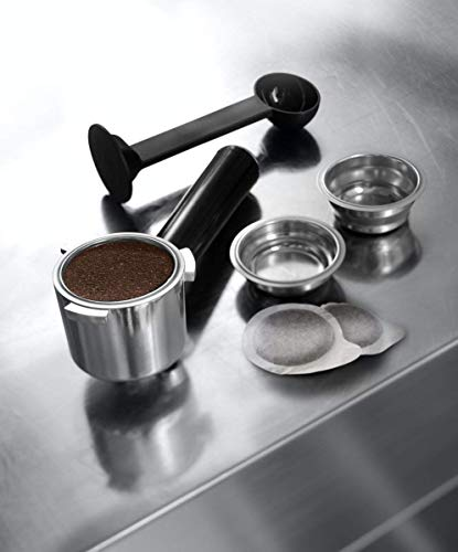 De'longhi Dedica EC685.M - Cafetera de bomba, acero inoxidable, capuccinatore, depósito 1,3 litros, sistema anti-goteo, café molido o monodosis, metal