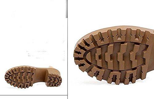 Onfly Femmes Peep Toe Talons Hauts Sandales Ceinture Boucle Cheville Sangles Plate-forme Chunky Talons Sandales Taille 32-43 Noir