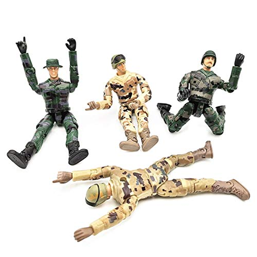 Kbsin212 4 stücke Elite Force spezialeinheiten Action Armee Figuren Spielzeug Soldat Puppen militärfiguren spielsets Krieg männer swat mit beweglichen gelenke 10 cm / 3,94 Zoll (Spielset Action-figuren)