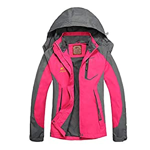 Women's Waterproof Jacket - Diamond Candy Outdoor Hooded Raincoat For Hiking Skiing Trekking Travelling Windbreaker Mountaineering