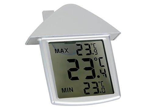 Home appliances 406121Transparent Thermomètre de fenêtre, 89.5mm x 97,5mm x