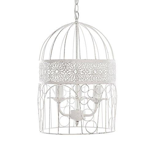 Grafelstein Kronleuchter Birdcage weiß Shabby chic Vogelkäfig Hängelampe Deckenlampe