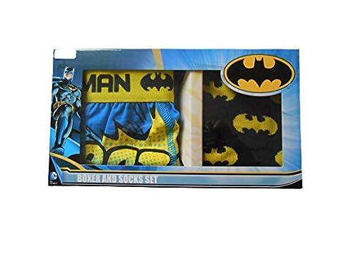 Batman Boxer Boys Shorts et chaussettes Ensemble-cadeau 4-5 ans