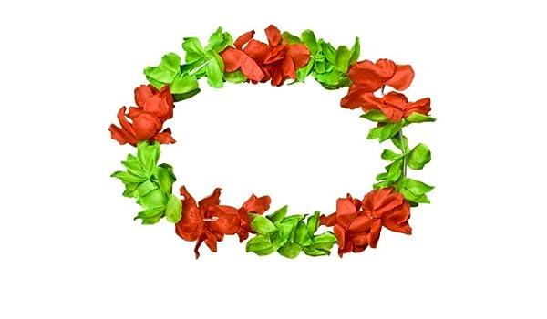 6x Hawaiiblumenhalskette 100 cm Blumenkette Hawaiikette Hawaiiblumenkette JGA