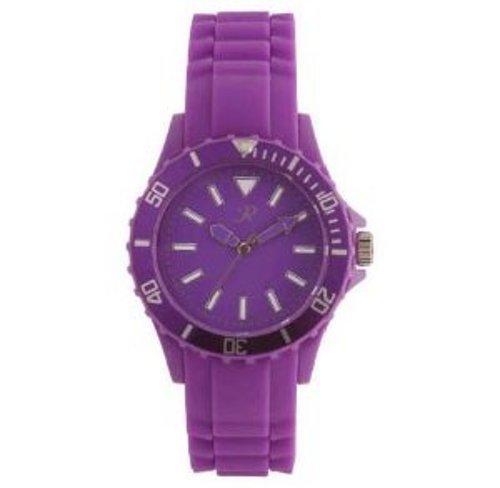 Violett Silikon Fashion Unisex Celeb Sport Armbanduhr SR008