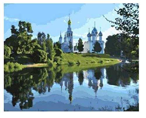 ayuxin St. Sophia Kathedrale In Vologda Digital DIY Ölgemälde Nach Zahlen Wanddekor Auf Leinwand Ölfarbe Färbung Nach Zahlen Zeichnung