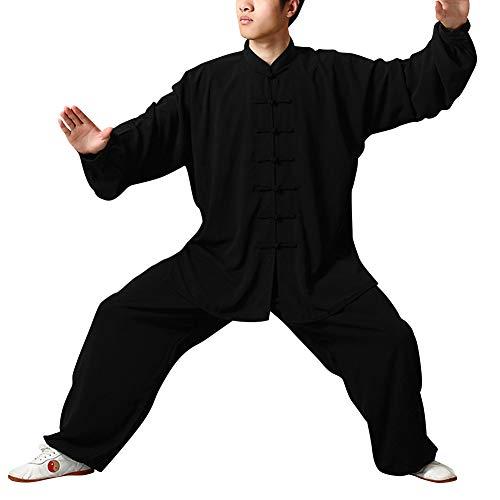 Huatime Kampfsport Bekleidung Unisex Erwachsener Trainingsbekleidung Sets - Chinesisch Traditionell Tai Chi Männer Kostüme Uniform Shaolin Kung Fu Frauen Baumwolle Bekleidungsanzüge - Chinesische Bekleidung
