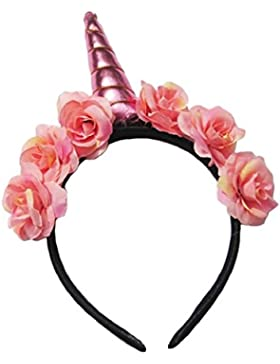 sanjose81Unicorn estilo diadema de flores de Fashion Club adultos fiesta pelo banda