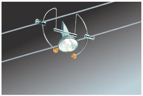 Glühlampen-schiene Leuchte (Paulmann 97049 Wire System Bogen 105 5x20W GU5,3 Alu/Chrom 230/12V 105VA Metall)